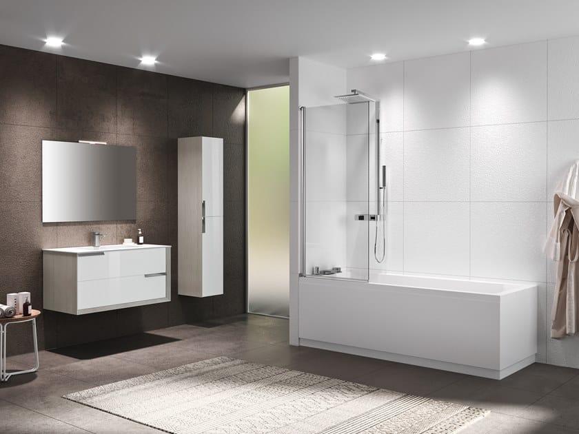 Glass bathtub wall panel RIVIERA 2.0 1V by NOVELLINI