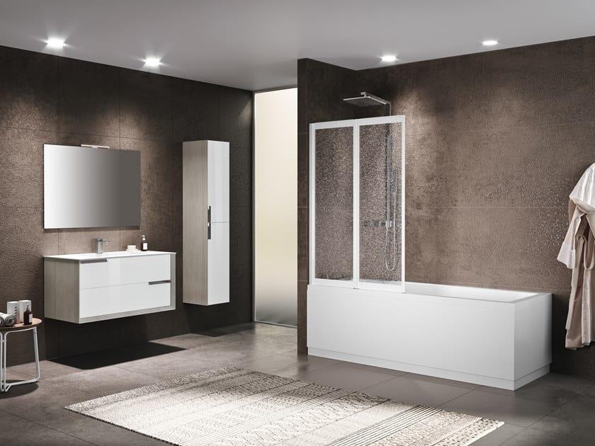 Folding glass bathtub wall panel RIVIERA 2.0 2V by NOVELLINI