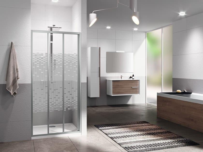 Niche shower cabin with sliding door RIVIERA 2.0 3P by NOVELLINI