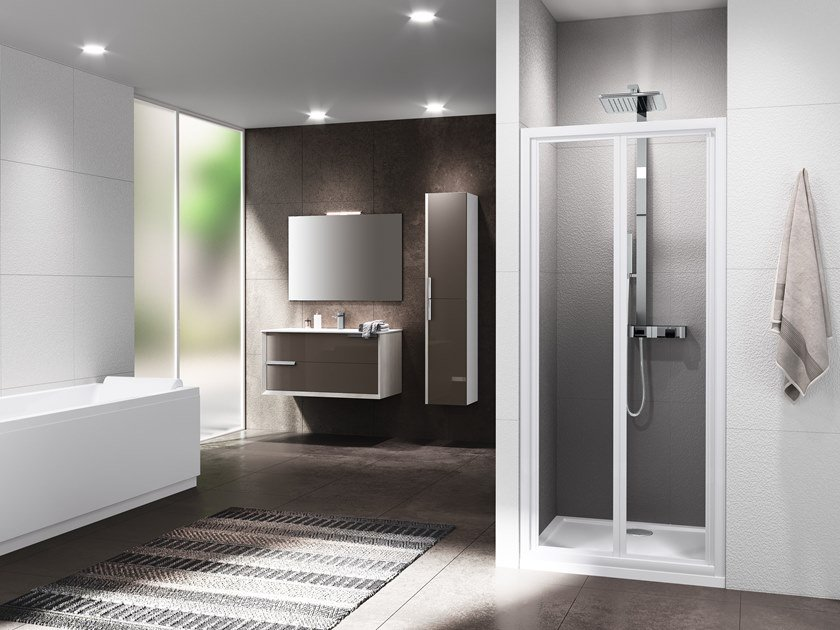 Niche shower cabin with folding door RIVIERA 2.0 S by NOVELLINI
