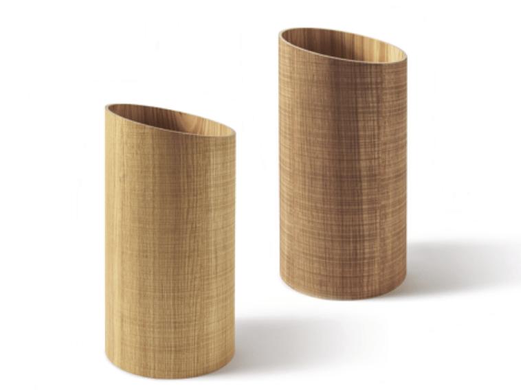Floorstanding wood-product umbrella stand RIVIERA | Umbrella stand by Atipico