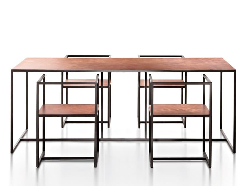 Tavolo rettangolare in metallo RIVIERA | Tavolo by DE CASTELLI