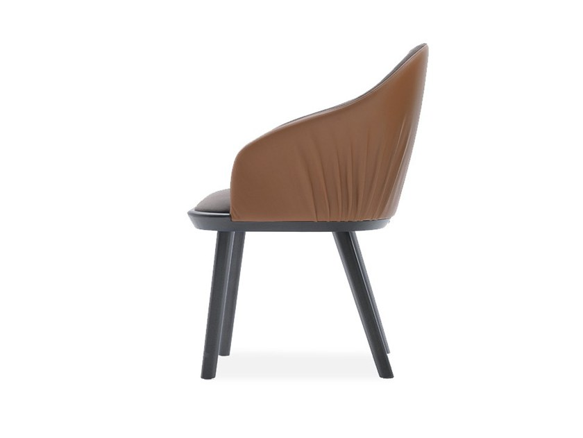 Upholstered chair with armrests RIVOLÌ 03333 by Montbel