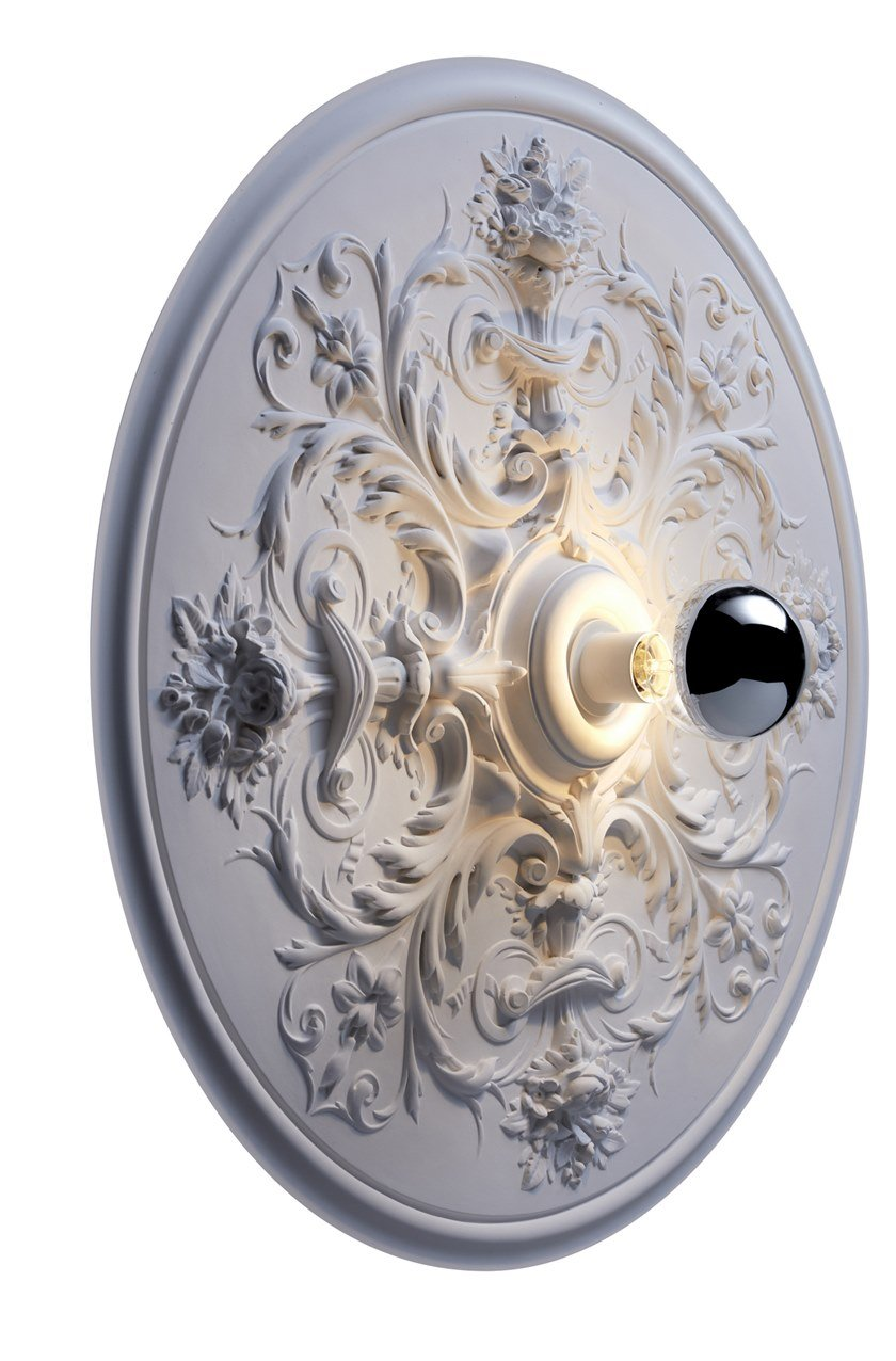 Handmade gypsum wall lamp RIVOLI L by RADAR INTERIOR