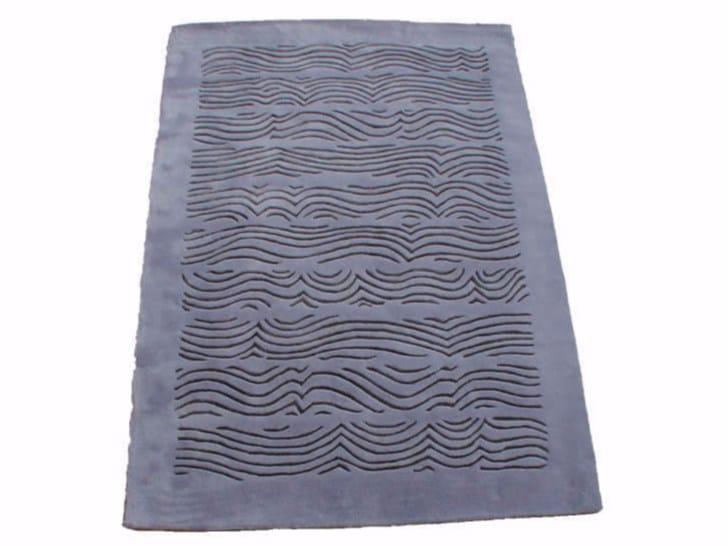 Patterned handmade rectangular rug RIVOLO by Garbarino