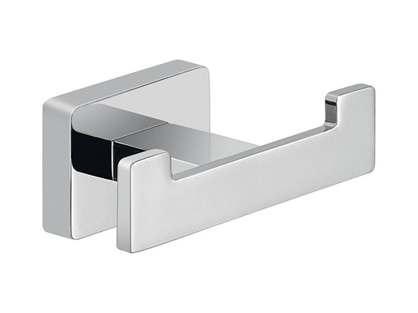 Double stainless steel robe hook ATENA   Robe hook by GEDY