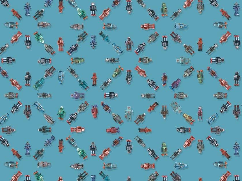 Wallpaper / floor wallpaper ROBOT by Texturae