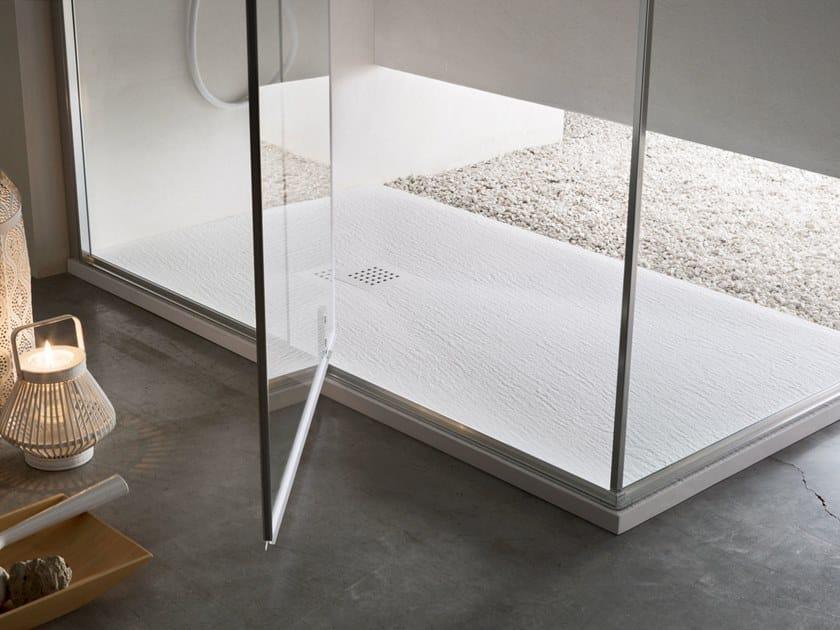 Anti-slip shower tray ROCCIA by Arcom