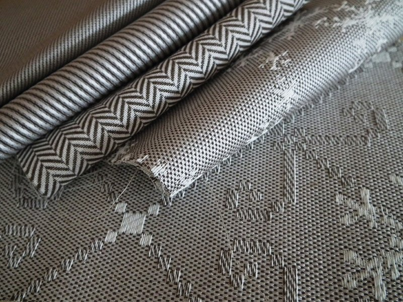 Fire retardant jacquard fabric with graphic pattern ROCH RESCA by l'Opificio