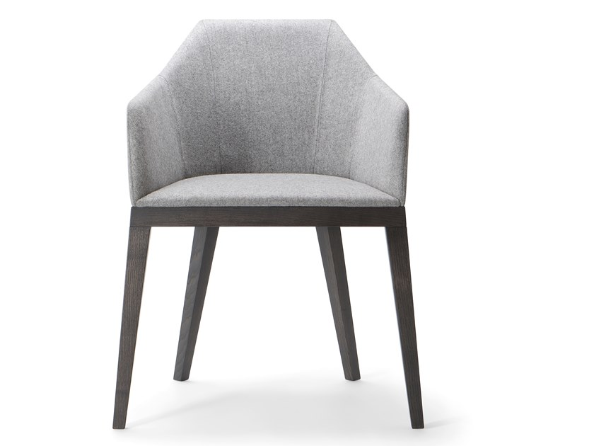 Upholstered chair with armrests ROCK ARMCHAIR by Verti