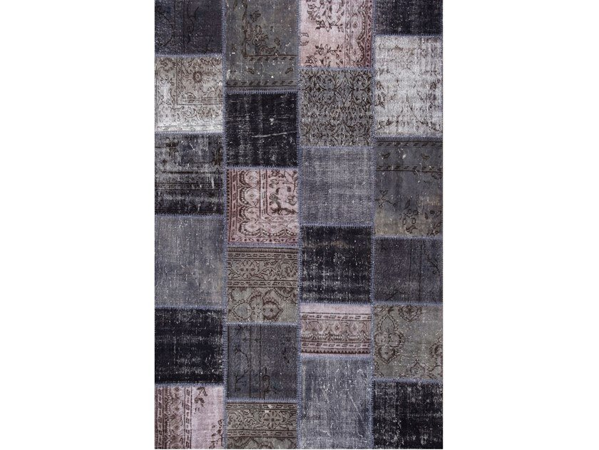 Handmade patchwork rug ROCK CENERE by Sirecom