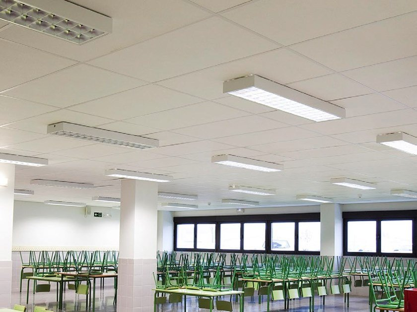 Ceiling systems for special applications ROCKFON® SYSTEM OLYMPIAPLUS A IMPACT 1A™ by Rockfon