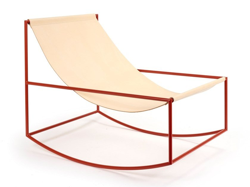 Rocking powder coated steel armchair ROCKING CHAIR | Powder coated steel armchair by Valerie_Objects