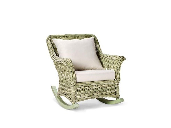 Rocking garden armchair with armrests CHATHAM | Rocking garden armchair by 7OCEANS DESIGNS