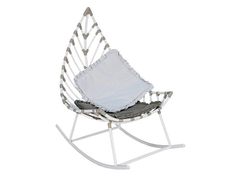 Rocking garden aluminium easy chair FOGLIA | Rocking easy chair by cbdesign