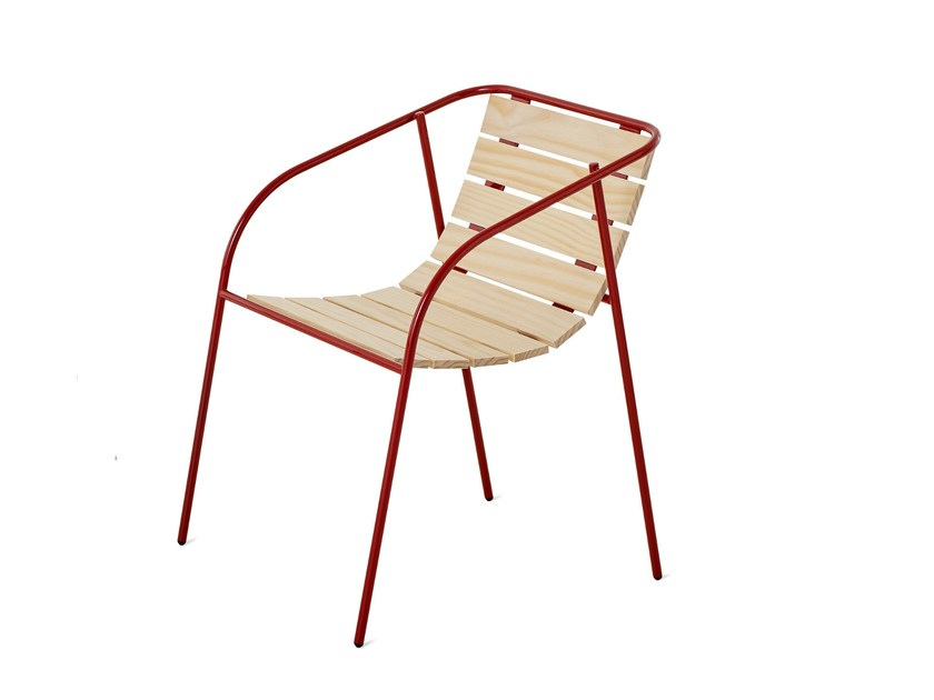 Stackable garden chair with armrests ROCKY | Garden chair by Nola Industrier