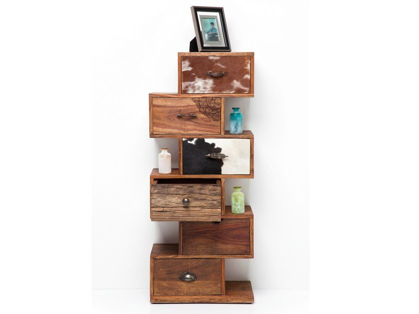 Wooden chest of drawers RODEO ZICK ZACK 6 by KARE-DESIGN
