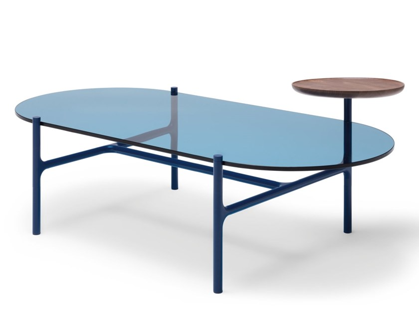 Tavolino ovale in vetro ROLF BENZ 915 ADDIT | Tavolino ovale by Rolf Benz