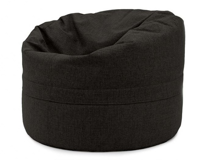 Upholstered round fabric bean bag pouf with removable lining ROLL 85/100 HOME by Pusku pusku