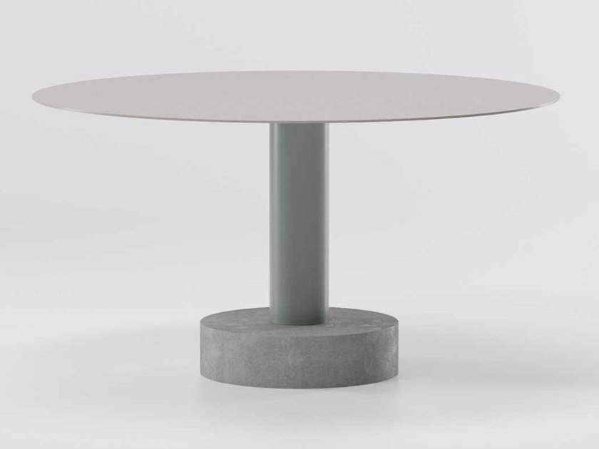 Contemporary style round table ROLL | Round table by Kettal