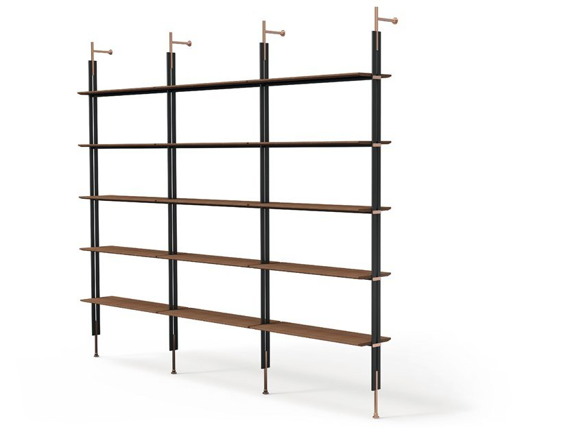 Libreria a parete componibile in legno ROLL by Bonaldo