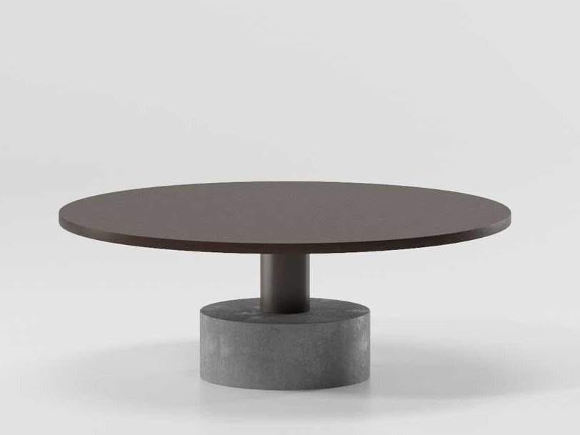 Low aluminium coffee table ROLL | Low coffee table by Kettal