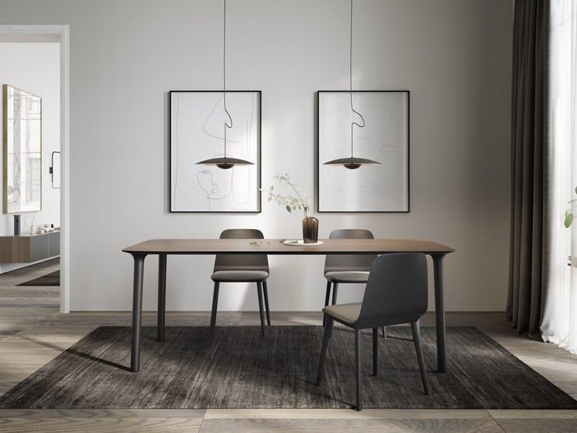 Rectangular wooden table ROLL | Rectangular table by TREKU