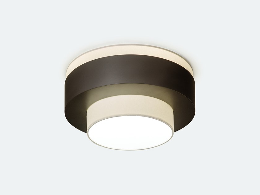 Handmade paper ceiling light ROLLE | Paper ceiling light by Kevin Reilly Collection