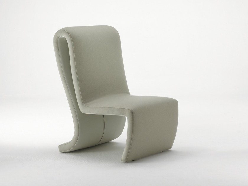 Upholstered fabric easy chair ROLLER | Easy chair by Mirabili