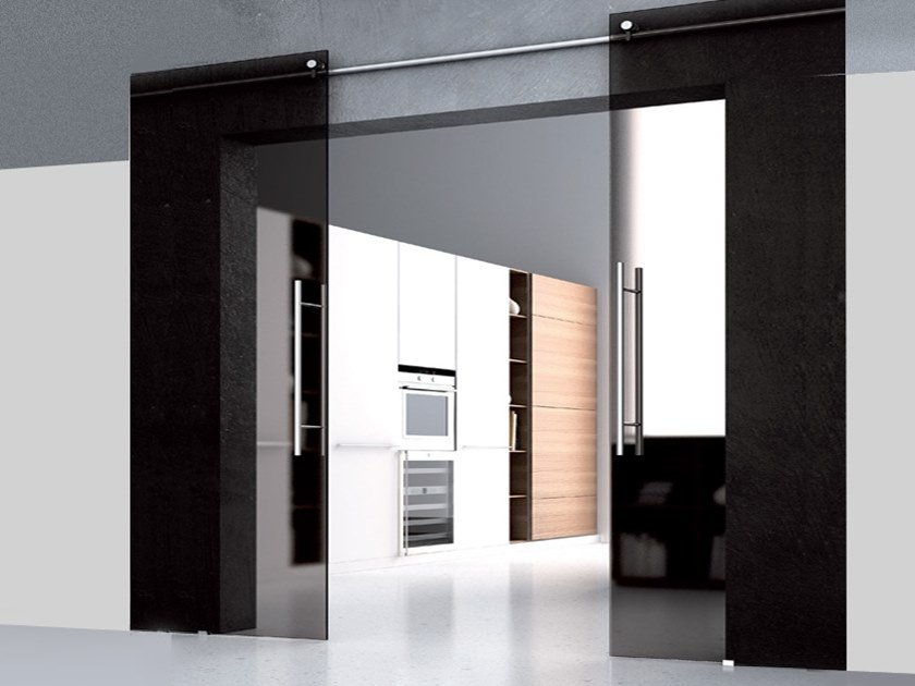 Sliding door track ROLLIE by Metalglas Bonomi