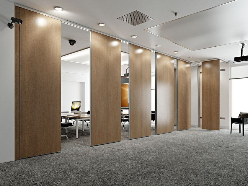 Sliding operable wall ROLLING WALL BICARRELLO | Operable wall by Arcadia