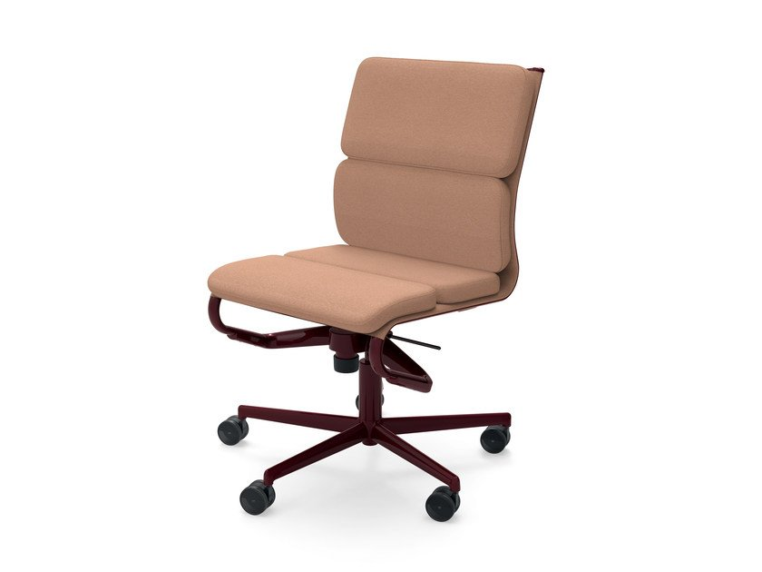 Height-adjustable swivel task chair with casters ROLLINGFRAME 52 SOFT - 473 by Alias