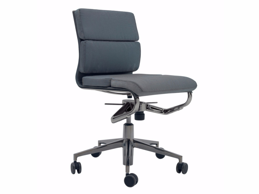 Ergonomic task chair with 5-Spoke base with casters ROLLINGFRAME+ ...