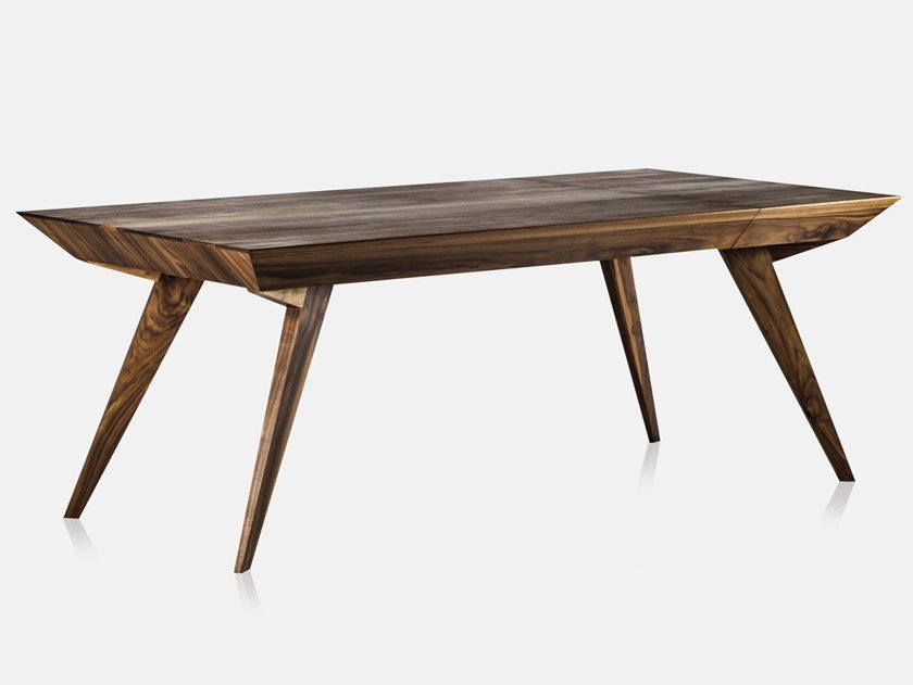 Extending rectangular solid wood table ROLY POLY by AROUNDtheTREE