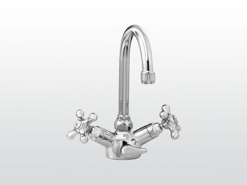 Chrome-plated 1 hole washbasin tap ROMA | 3217 by RUBINETTERIE STELLA