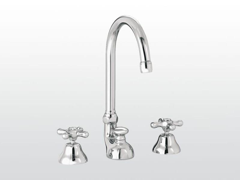 3 hole countertop washbasin tap ROMA | 3226 by RUBINETTERIE STELLA