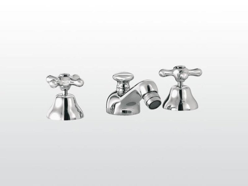 3 hole bidet tap with swivel spout ROMA | 3601 by RUBINETTERIE STELLA