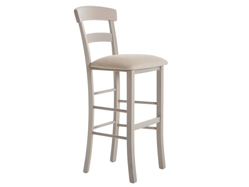 High beech stool with back ROMA 42LJ.i2 by Palma