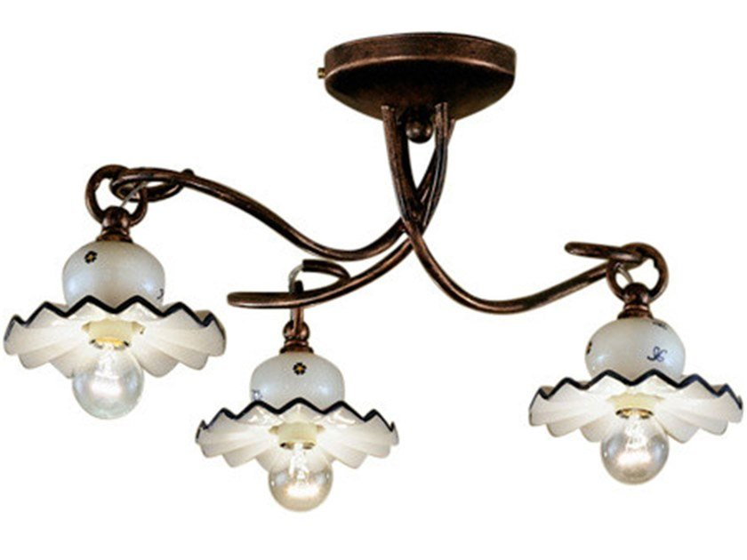Ceramic ceiling lamp with fixed arm ROMA | Ceiling lamp by FERROLUCE