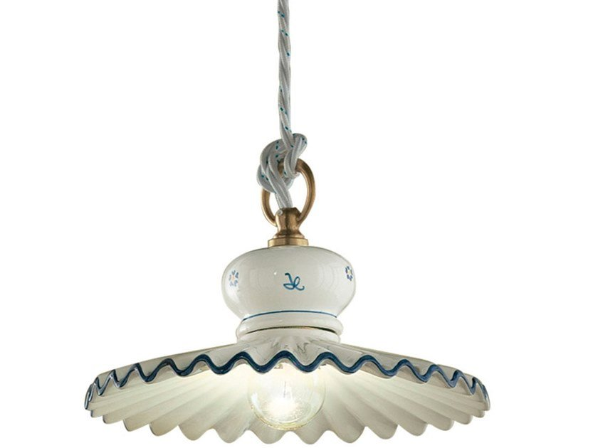 Classic style direct light ceramic pendant lamp ROMA | Ceramic pendant lamp by FERROLUCE