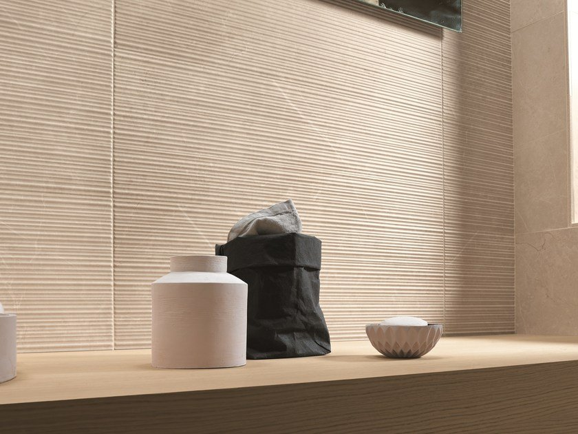 Indoor white-paste 3D Wall Tile ROMA | 3D Wall Cladding by FAP ceramiche