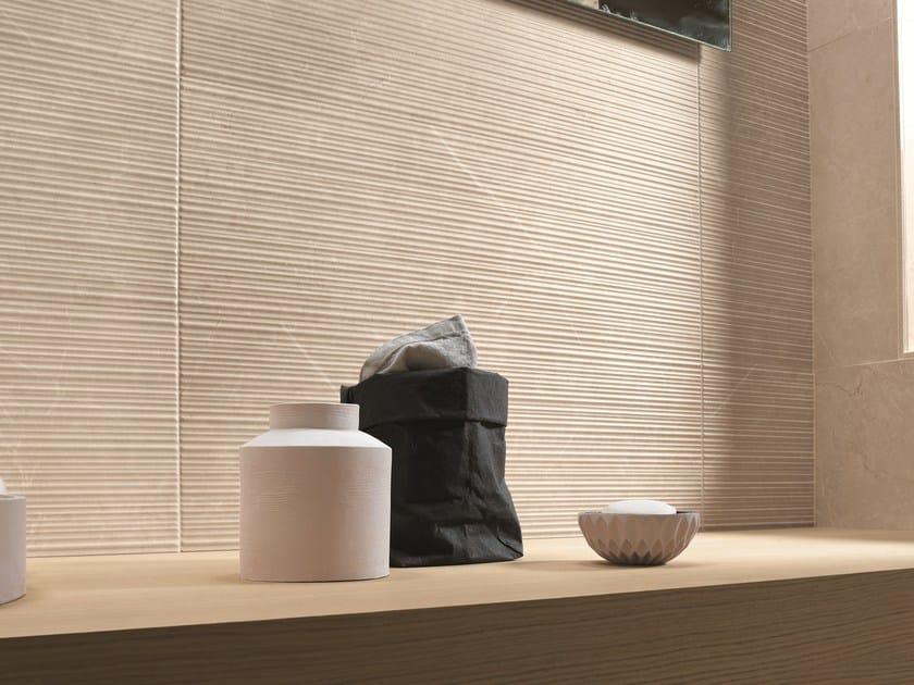 Piastrelle con superficie tridimensionale in ceramica a pasta bianca per interni ROMA | Rivestimento tridimensionale by FAP ceramiche