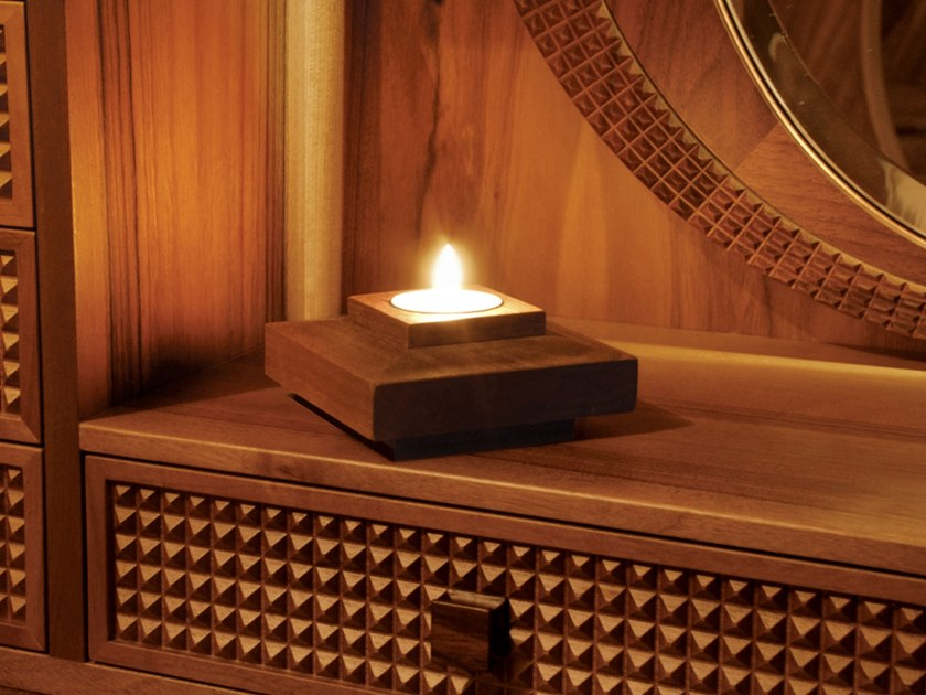 Wooden candle holder ROMANTIC CANDLEHOLDER by Nouvel Espace