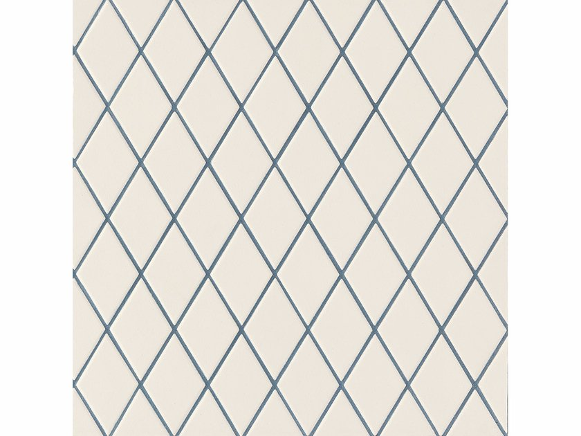 Porcelain stoneware wall/floor tiles ROMBINI LOSANGE WHITE BLUE by MUTINA