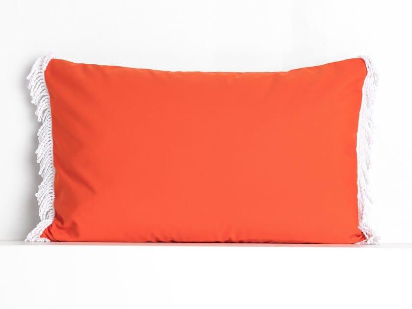 Rectangular outdoor acrylic cushion ROMY CORAIL & ORANGE | Rectangular cushion by Maison Madeleine