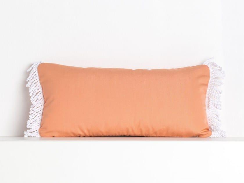 Rectangular outdoor acrylic cushion ROMY CORAIL | Rectangular cushion by Maison Madeleine