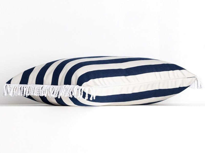 Striped rectangular outdoor acrylic cushion ROMY RAYE JEANS | Rectangular cushion by Maison Madeleine
