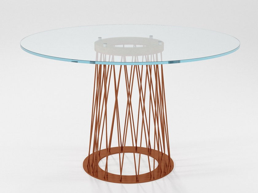 Round crystal dining table RONCISVALLE | Crystal table by Barel
