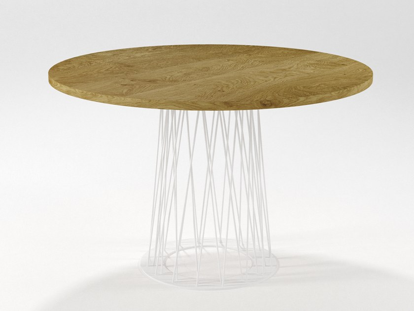 Round wooden dining table RONCISVALLE | Wooden table by Barel