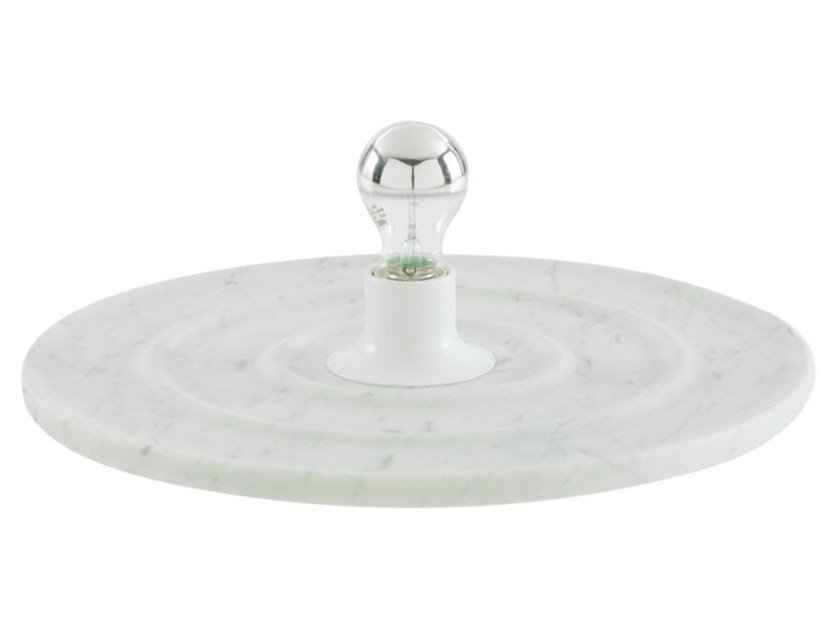 Carrara marble table lamp RONDE by Ligne Roset